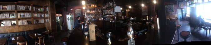 Panoramic Shot of The Liquor Store in Portland