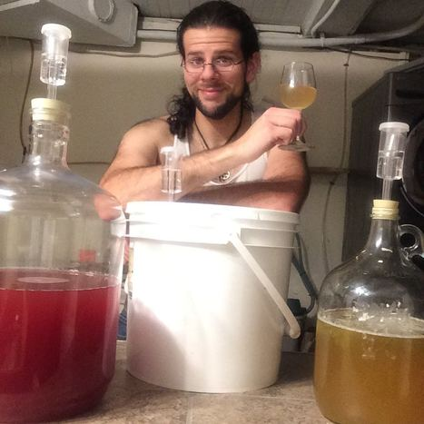 The Black Hat Baker with his homebrew meads