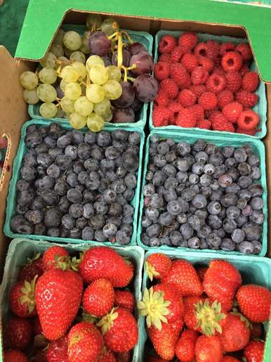 An assortment of berries