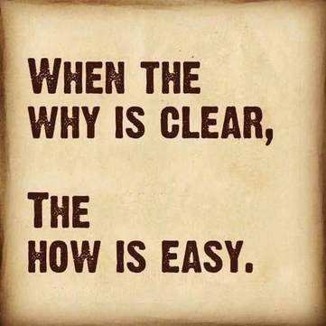 """When the why is clear, the how is easy"""