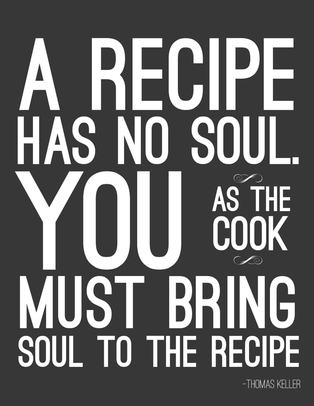 A pictured quote by Thomas Keller: