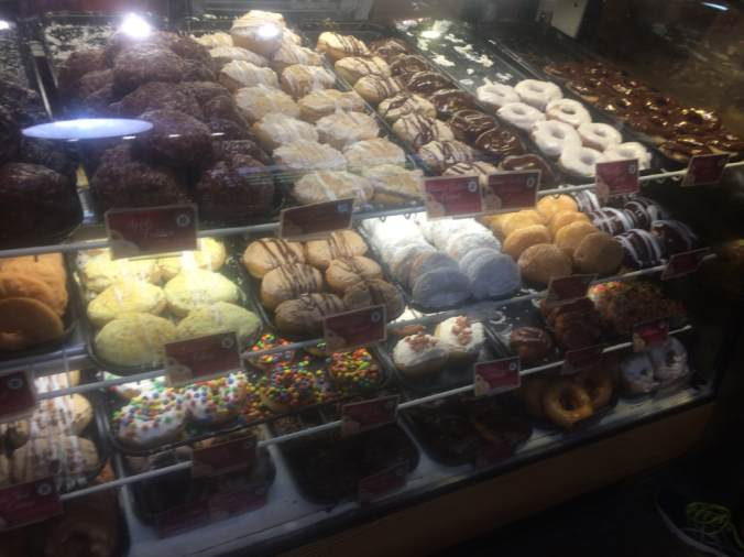 Beiler's Doughnuts display case
