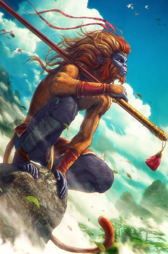 Sun Wukong, the Monkey King, as depicted by Grafik