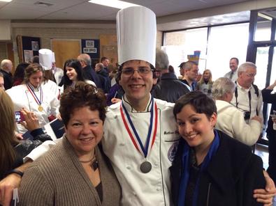 The author graduating culinary school