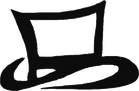 The Black Hat Baker's Signature Top Hat Logo