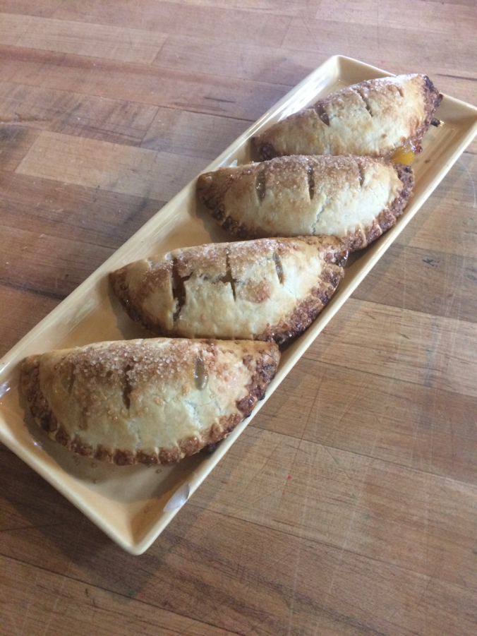 Handpies On a wood table