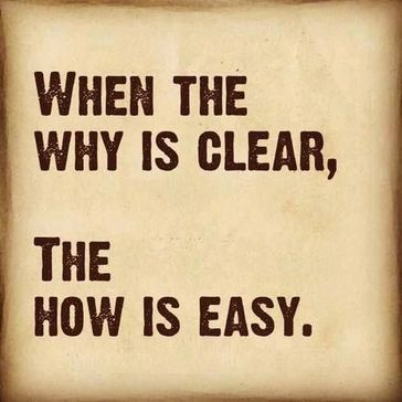 """Text: """"When the why is clear, the how is easy."""""""