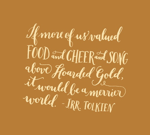 A quote from J.R.R. Tolkein's The Hobbit