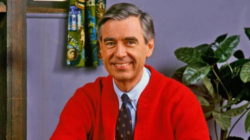 A close-up of Mister Rogers
