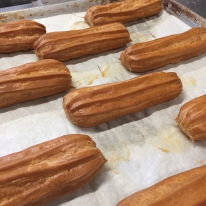 Baked eclair shells