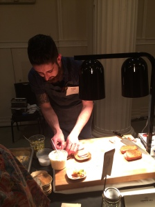 Chef Keith of Cooper's Hall plating