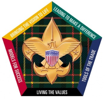 The logo of Wood Badge from the BSA